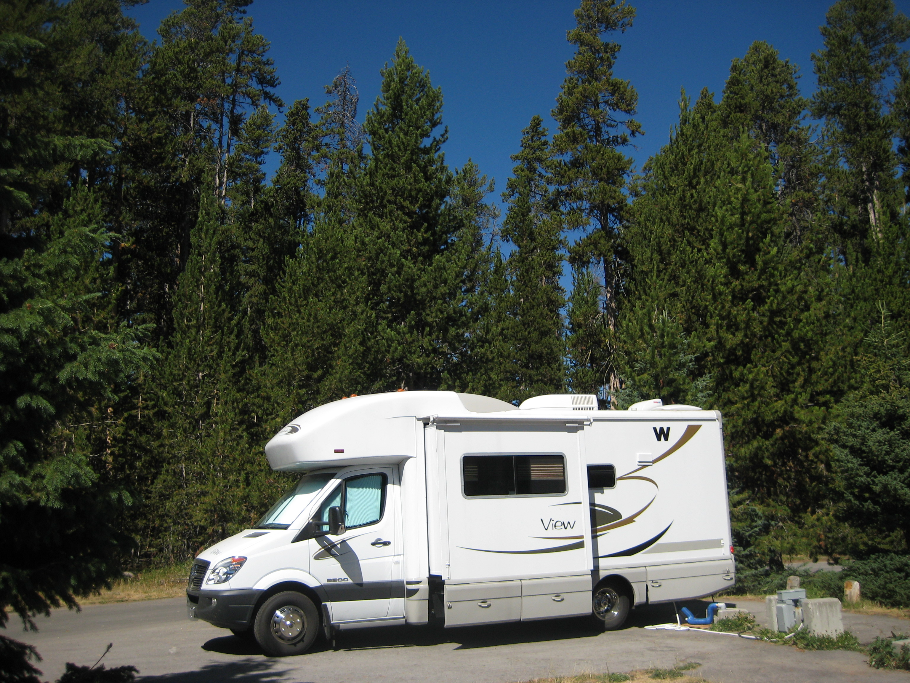 Incredible blue sky in Yellowstone campground