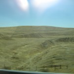 Scenery from I-5 heading south to Bakersfield
