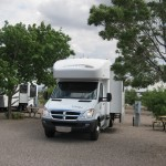 Campsite at the Blake Ranch RV Park---Kingman Arizona