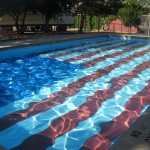American flag painted on bottom of pool - Gallup New Mexico