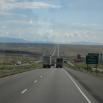 Long long straight road in New Mexico