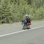 Bicycle on Alaska highway