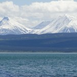 View from our campsite Lake Kluane